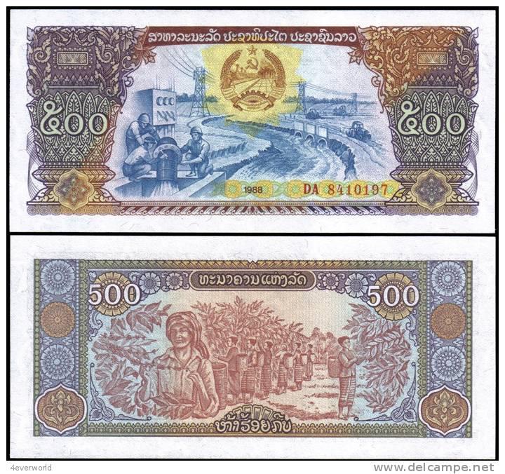 Laos 1988 500 Kip Banknotes Uncirculated UNC - Andere