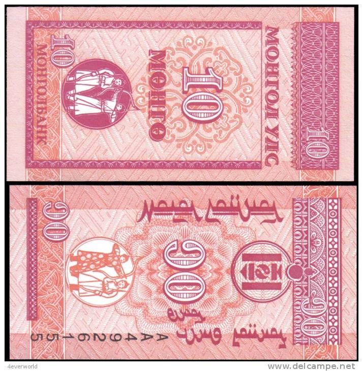 Mongolia 10 Mongo Banknotes Uncirculated UNC - Andere
