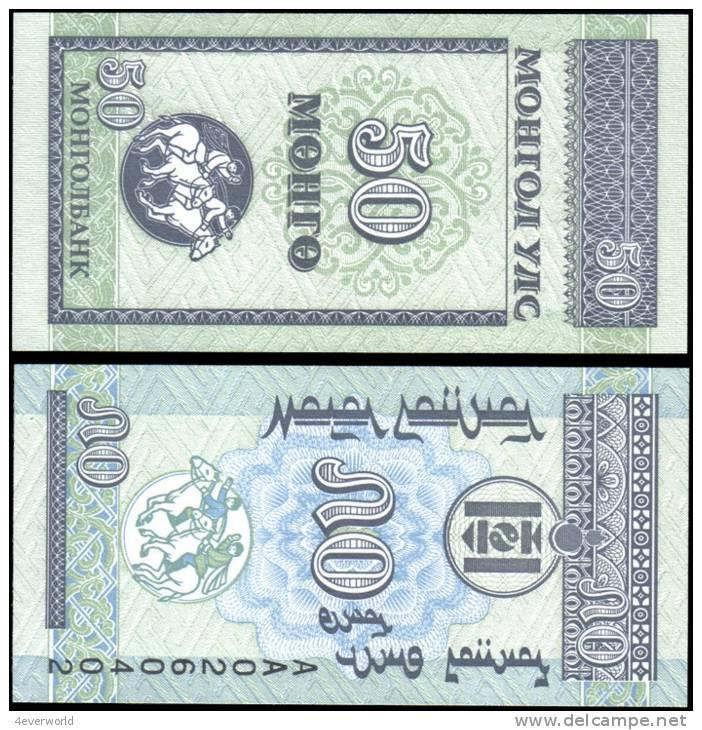Mongolia 50 Mongo Banknotes Uncirculated UNC - Andere