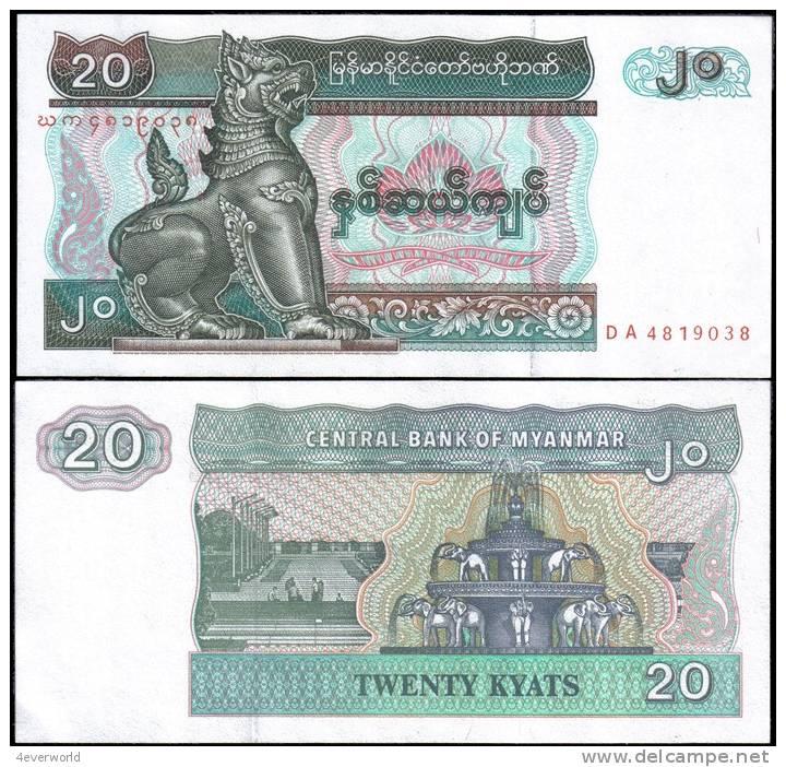 Myanmar 20 Kyats Banknotes Uncirculated UNC - Andere