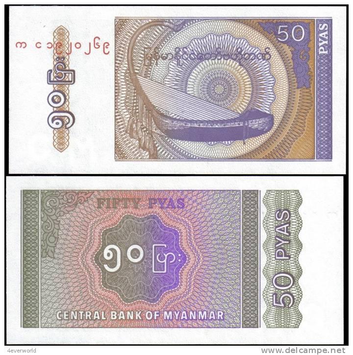 Myanmar 50 Pyas Banknotes Uncirculated UNC - Andere