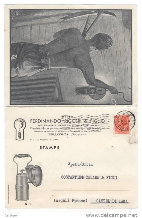 ^ PUBBLICITARIA FOLLONICA FERDINANDO RICCERI X CASTEL DI LAMA ASCOLI Q - Publicité