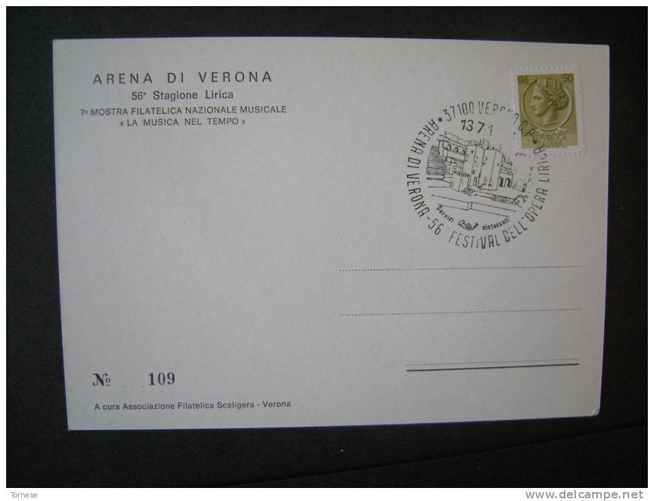 1977/78 - Cartolina Con Affrancature E Annullo 13-7-1978 Arena Di Verona - 6. 1946-.. Republik