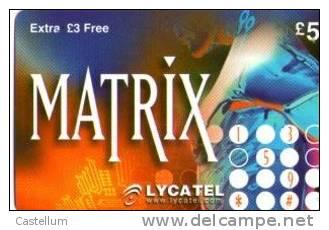 Telecarte- MATRIX - Télécartes