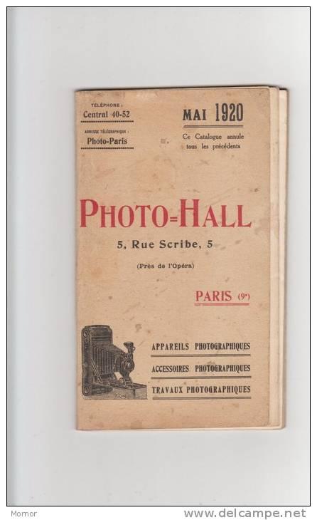 LIVRE CATALOGUE 1920 PHOTO-HALL Appareils Accessoires  Objectifs Photographiques - Catalogues