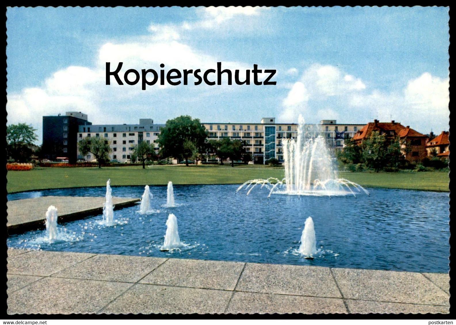 ÄLTERE POSTKARTE BAD NAUHEIM NEUES KURVIERTEL Waterspout Fountain Fontaine Springbrunnen Brunnen Ansichtskarte postcard