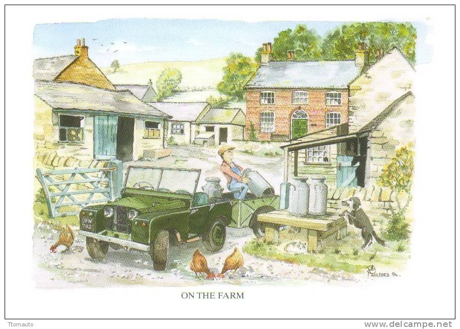 Land Rover CP  -  Art Card By Artist Peter Wilford - Turismo