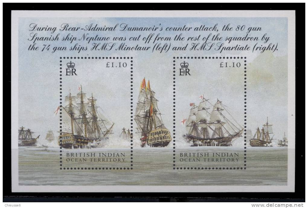 SOcéan Indien Anglais  **  -  Bloc 23 -  Voilier - Territoire Britannique De L'Océan Indien