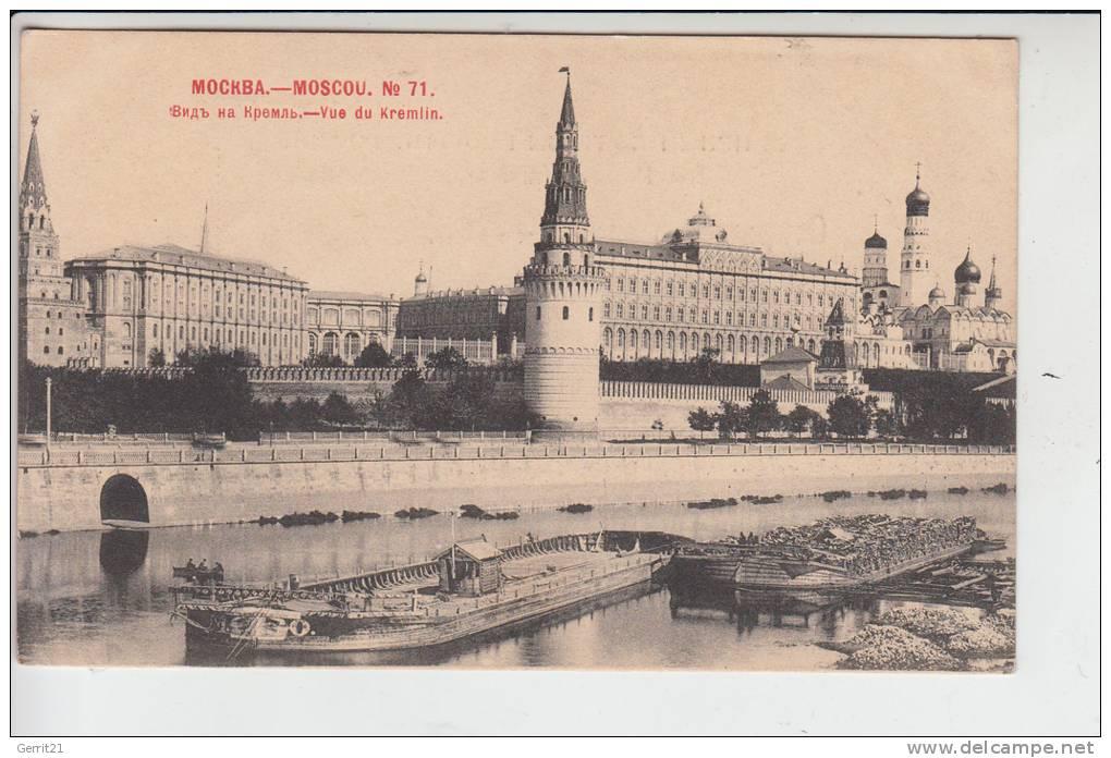 RU - RUSSLAND MOSKAU, Vue Du Kremlin - Binnneschiffe, 1902, Early Card - Undivided Back - Rusia