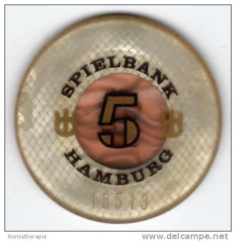 Allemagne : Jeton De Casino Spielbank Hamburg 5 DEM - Casino
