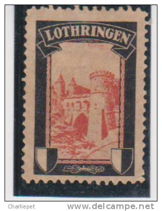 German Germany Mourning Labels Lost Colonies Lothringen Cnderella Issued In 1920 By Sigmund Hartig MH - Colony: German South West Africa