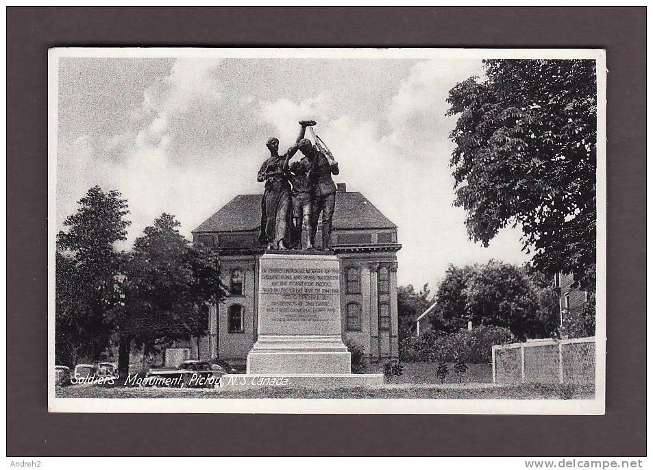NOVA SCOTIA - NOUVELLE ÉCOSSE - PICTOU - SOLDIERS MONUMENT - Nouvelle-Écosse