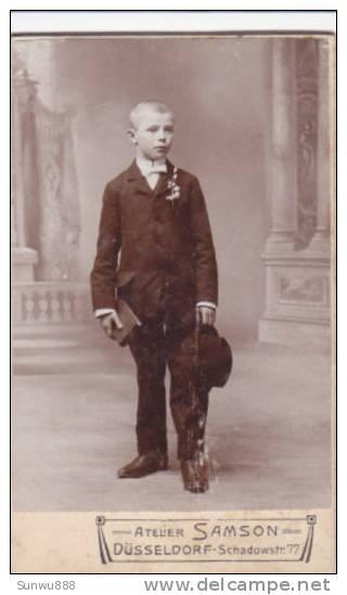 Photo Jeune Homme, Photographie Atelier Samson, Düsseldorf ( Format 65 * 105 Mm Sur Carton épais ) - Fotos