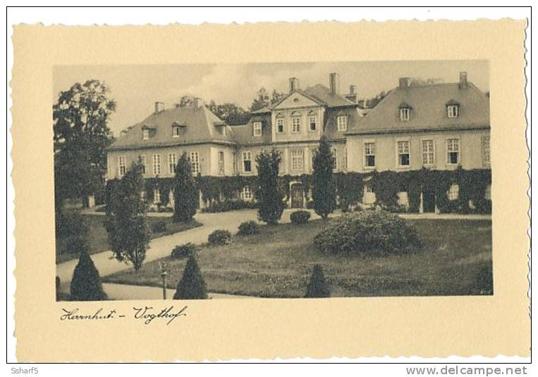 Herrnhut Vogthof Echte Foto Um 1935 - Herrnhut