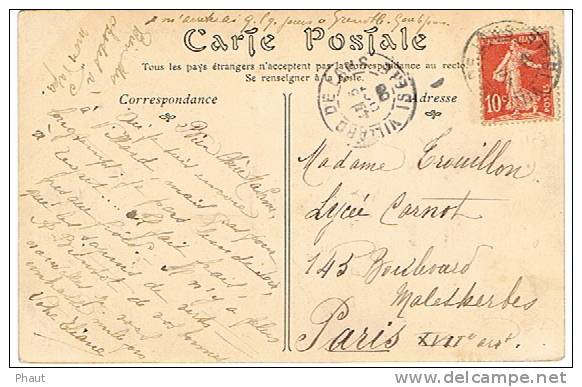 134II SUR CPA AU DEPART DE VILLARD DE LENS - Postmark Collection (Covers)