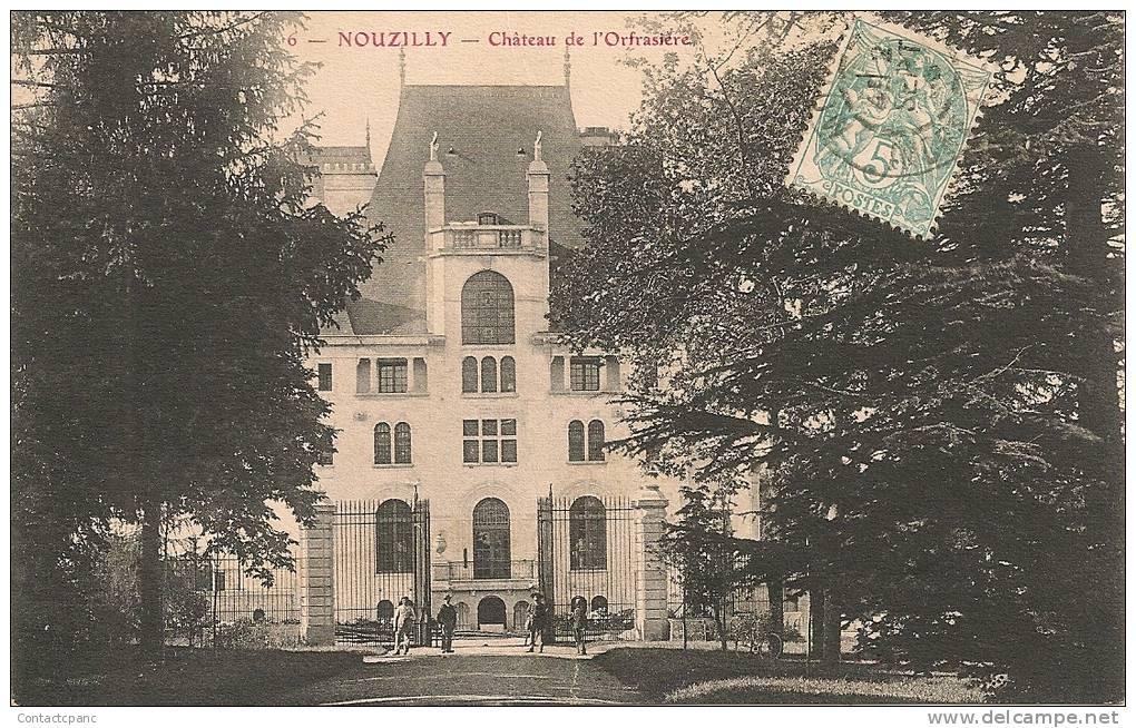 NOUZILLY  ( 37 )  - Château De L ´ Orfrazière - France