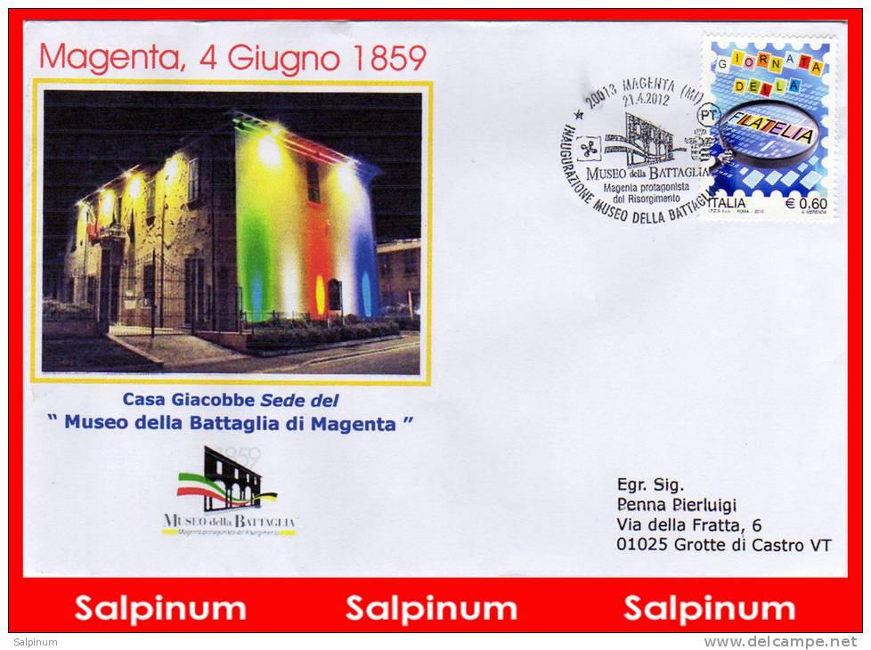 ANNULLO BATTAGLIA MAGENTA INAUGURAZIONE MUSEO - 6. 1946-.. Republic