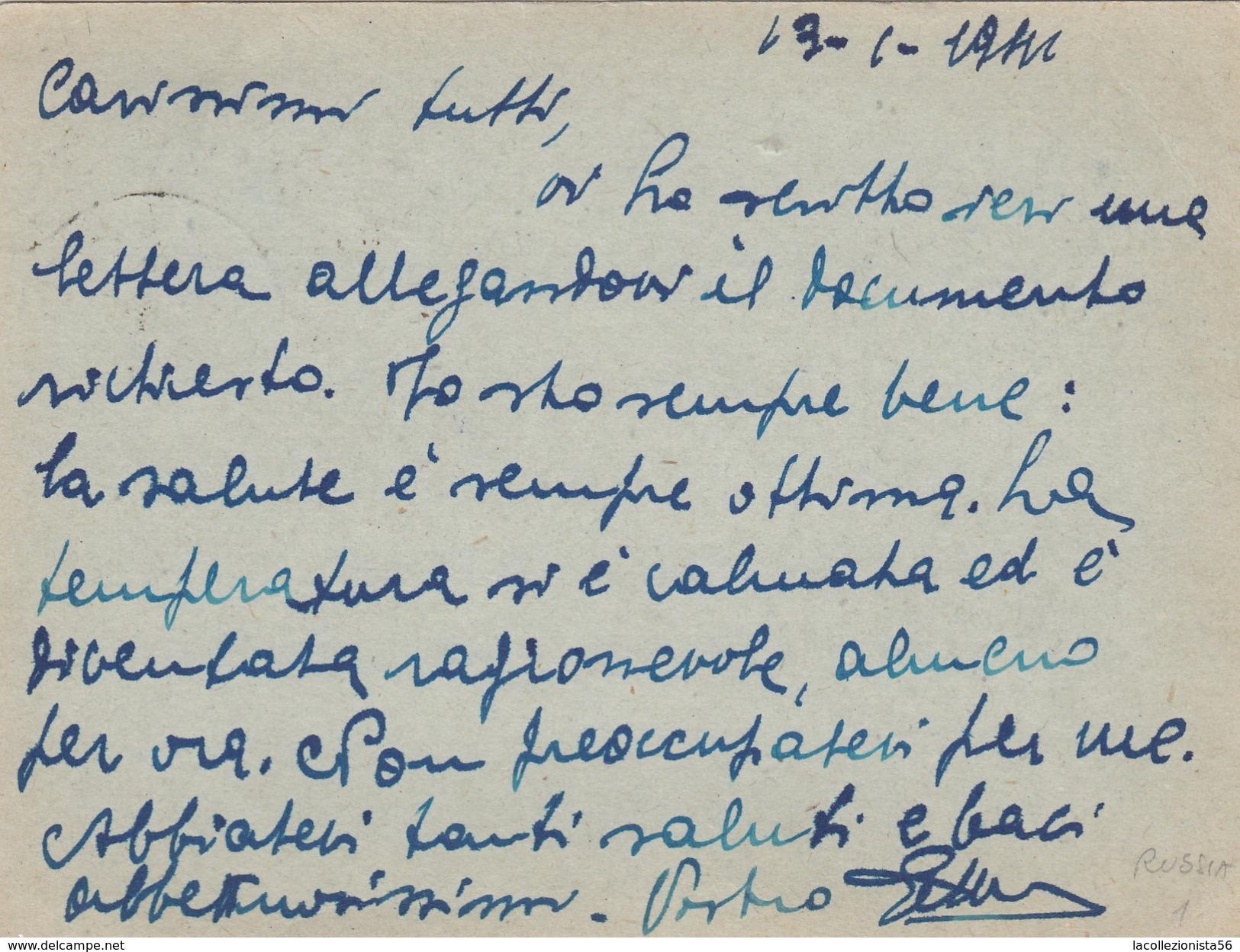 2458-FRANCHIGIA 2° GUERRA-P.M. 102-RUSSIA-15-01-1942 - 1900-44 Victor Emmanuel III