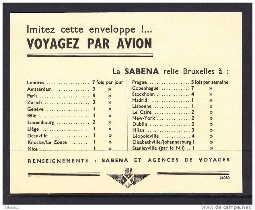 Belgium: 1st Flight Cover -  Brussells To Cairo 16.6.47 - Belgium