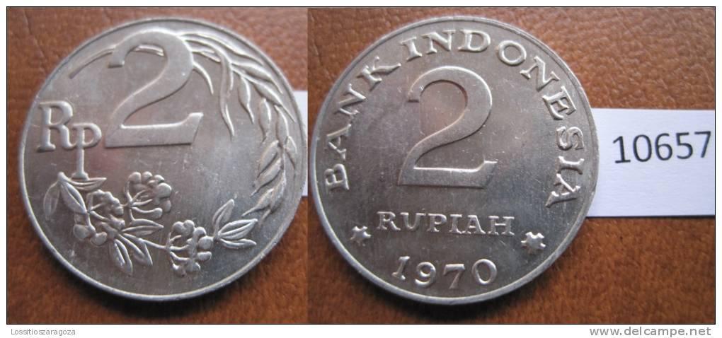 Indonesia 2 Rupias 1970 - Otros – Asia