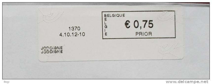 België 2012 Jodoigne 1370 - Nieuw Logo Post - Frankeervignetten