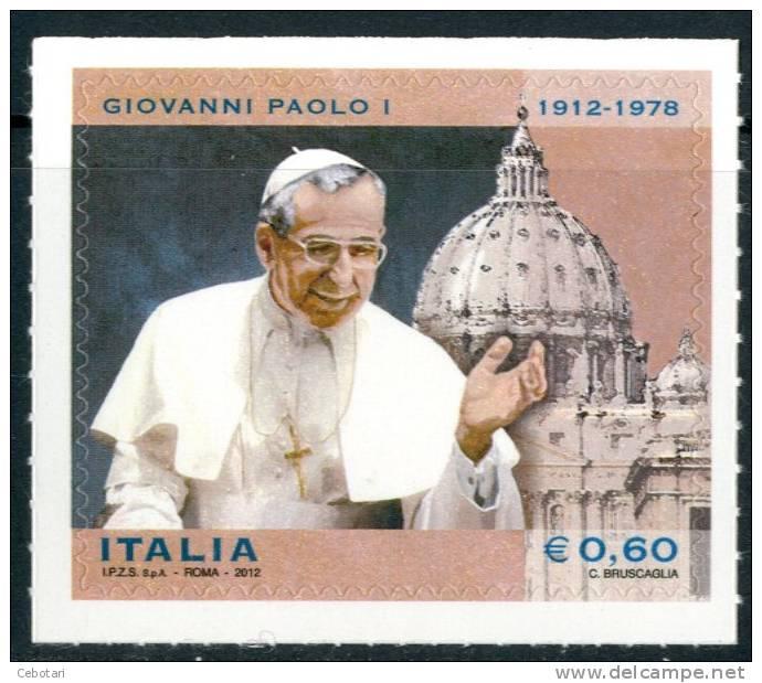 ITALIA / ITALY 2012** - Papa Giovanni Paolo I - 1 Val. Autoadesivo Come Da Scansione - 2011-...: Neufs
