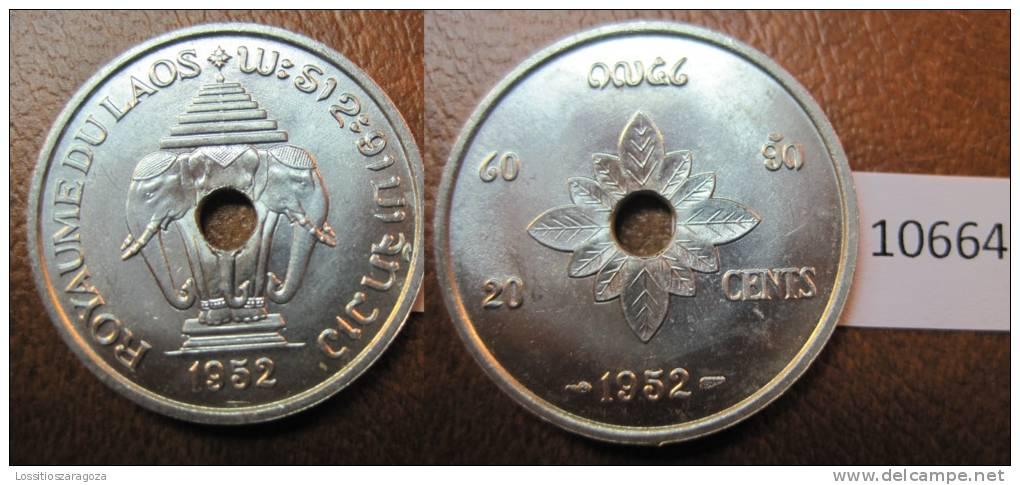 Laos 20 Centimos 1952 - Otros – Asia
