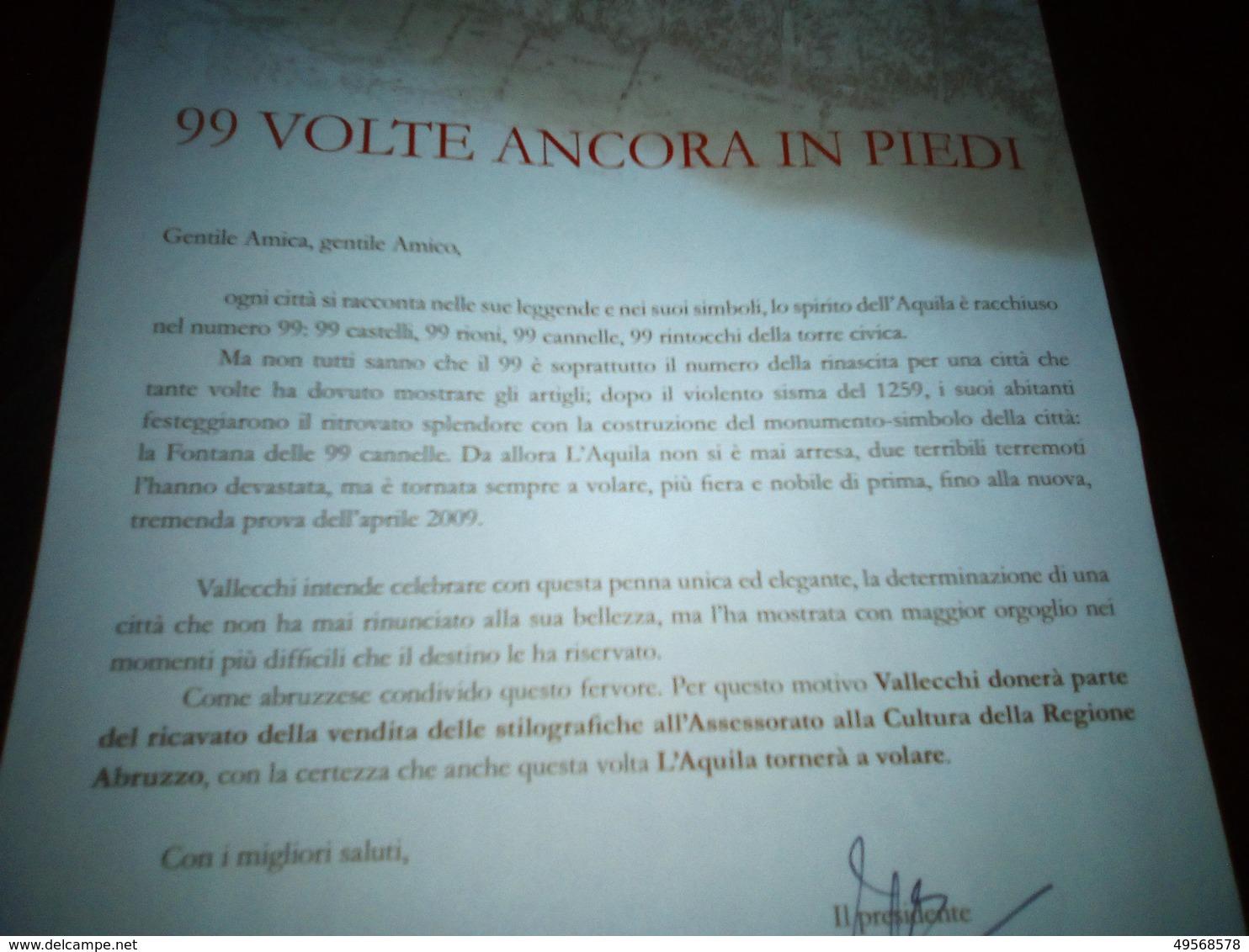 PENNA VALLECCHI IN ORO, CELEBRAZIONE DELLA CITTA' DELL'AQUILA DOPO SISMA - Penne