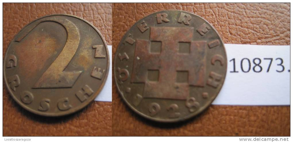 Austria 2 Groschen 1928 - Otros – Europa