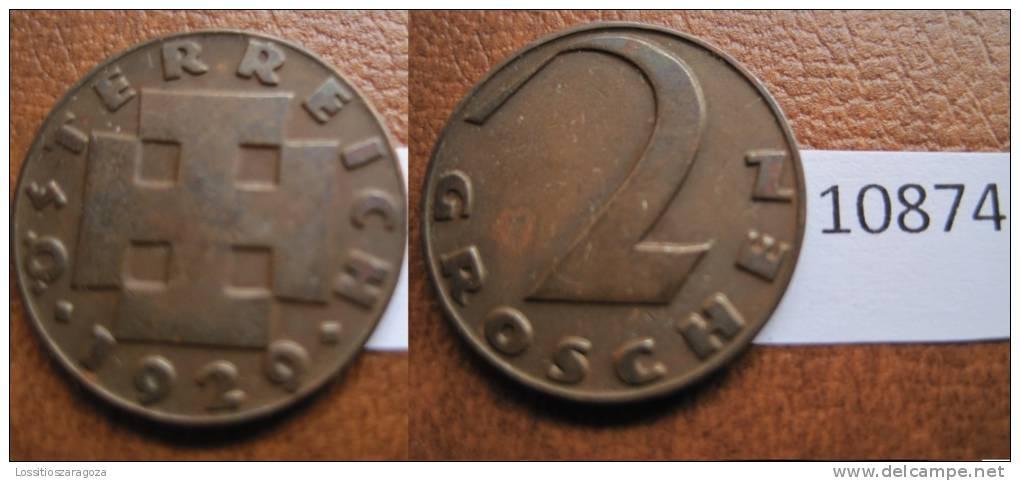 Austria 2 Groschen 1929 - Monedas