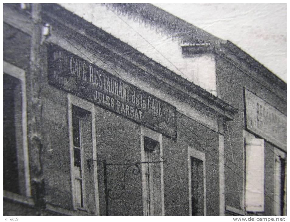 Cpa 70 PORT D ATELIER AMANCE  CAFE De La Gare JULES PARRAT ,  Les Hotels, Eglise,Chateau D Eau - France