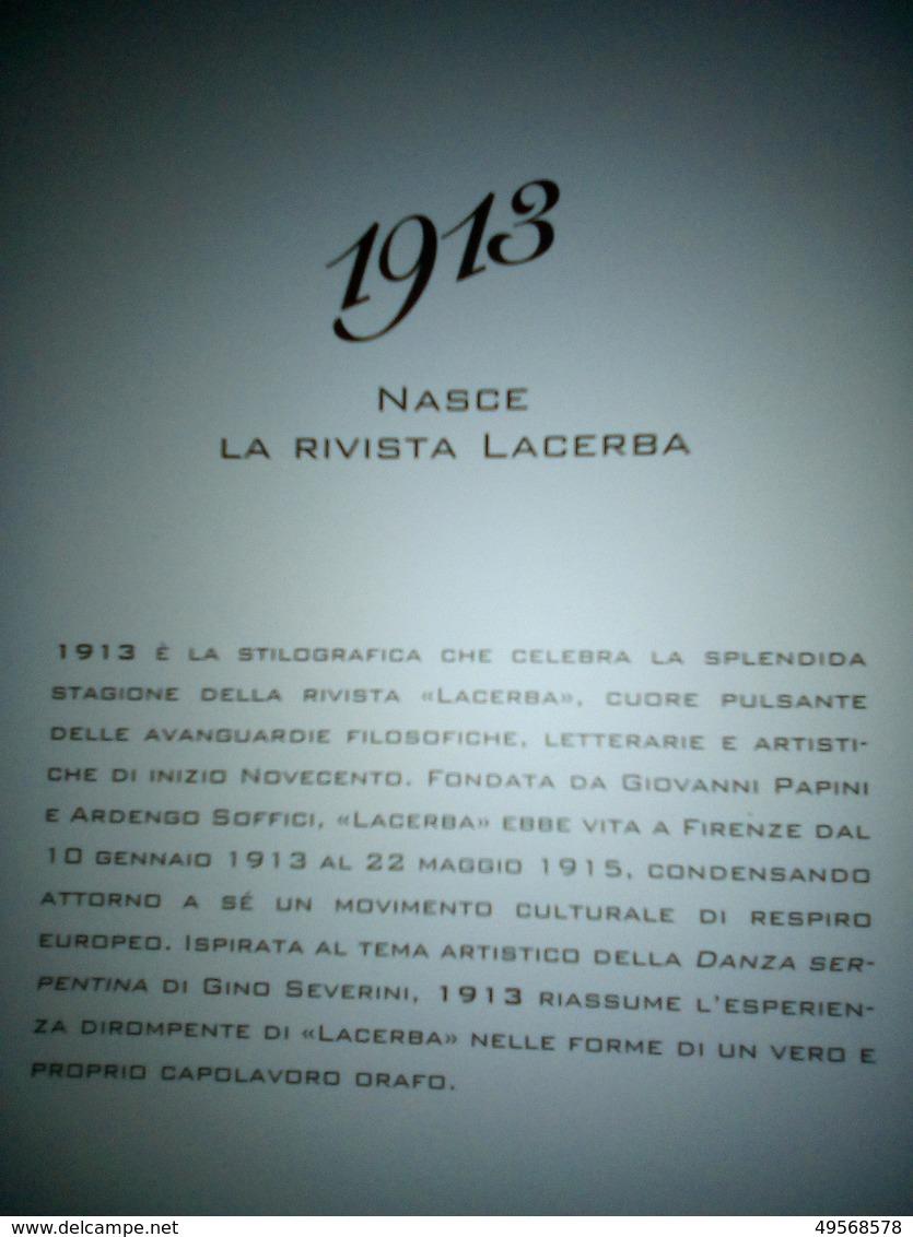 """PENNA STILOGRAFICA """"1913"""" IN ARGENTO. COMMEMORAZIONE DELLA NASCITA DELLA RIVISTA LACERBA. - Penne"""