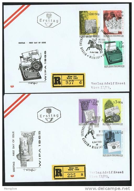 1965  Histoire De La Lettre Emise Pour WIPA 1965 Sur 2 FDC - FDC