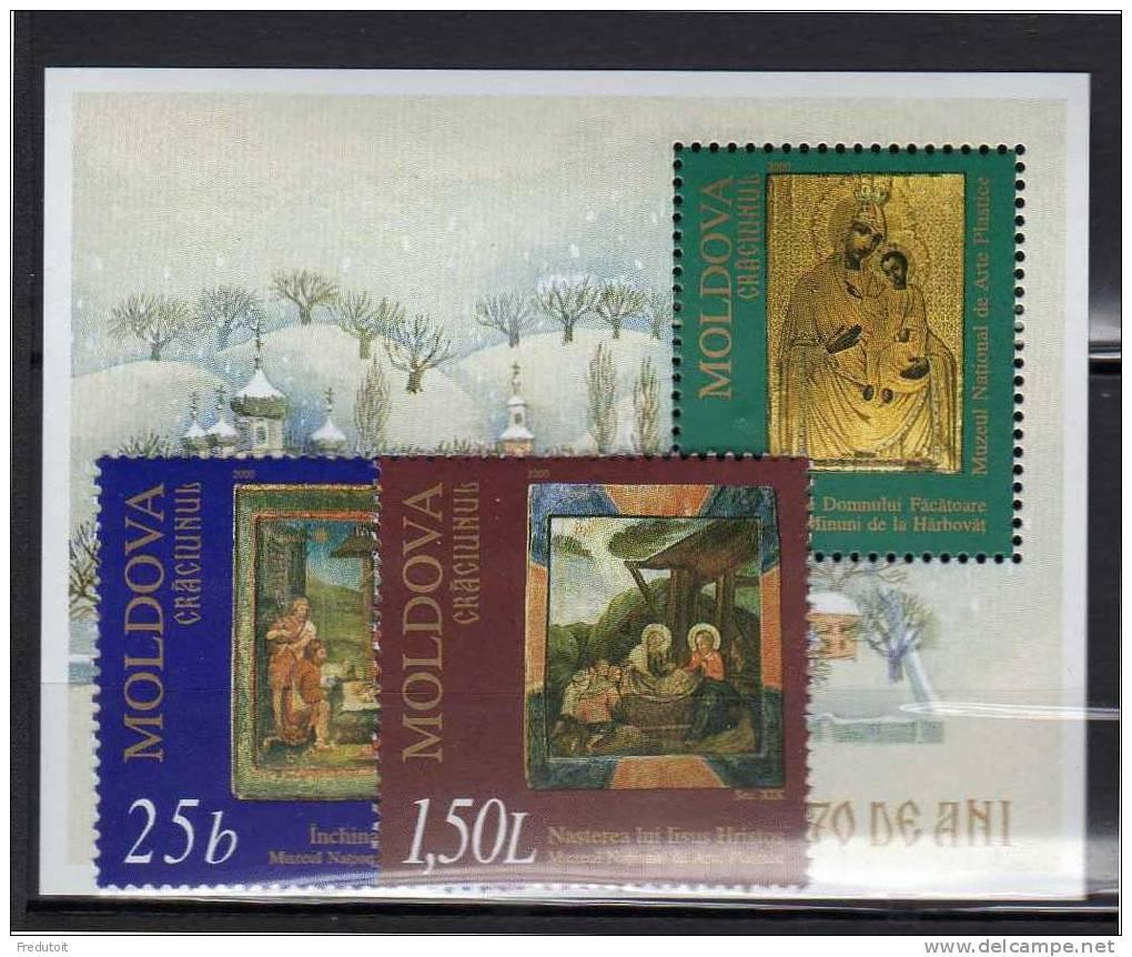MOLDAVIE -  N° 325/6 + Bloc N°24 **  (2000) - Moldova