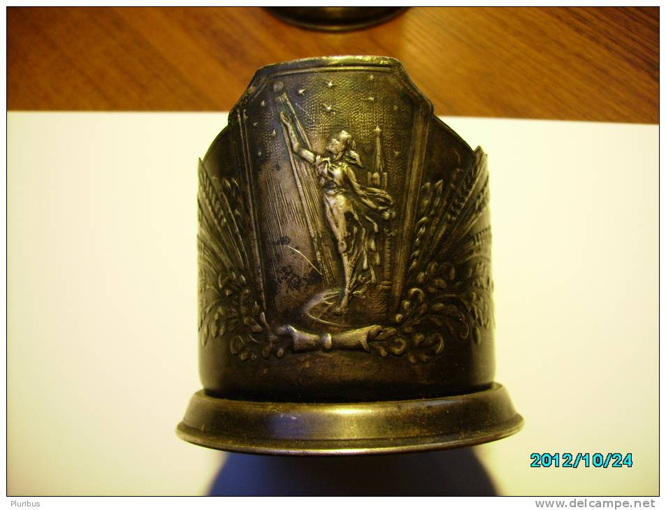 RUSSIA USSR, OLD SPUTNIK , SPACE THEMATIC TEA GLASS HOLDER - Other Collections