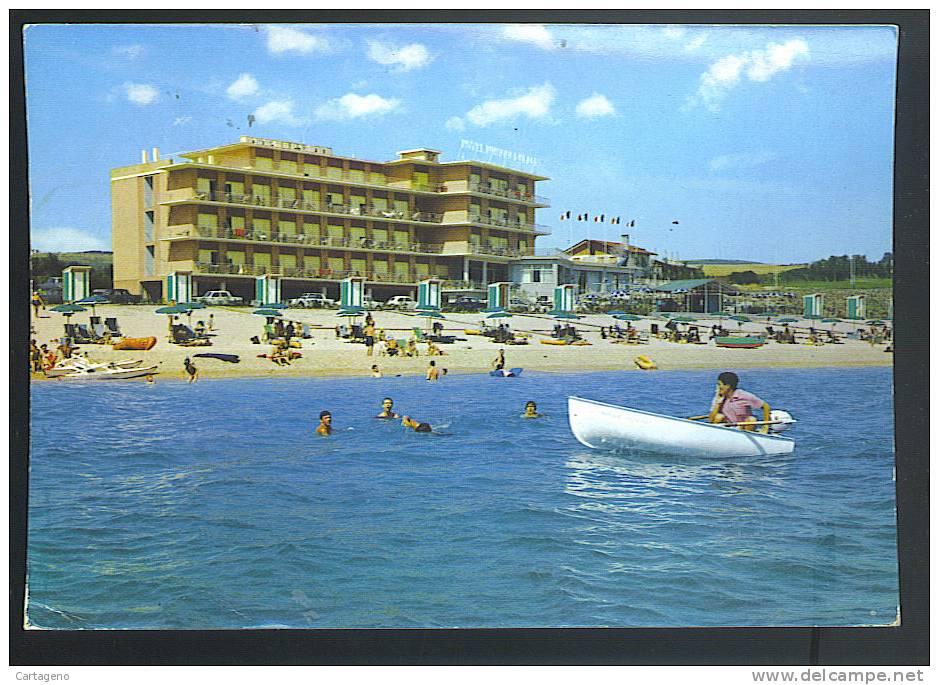 MARCELLI Riviera Del Conero ( Ancona) Hotel Numana  Cartolina  Viaggiata 1970 - Altre Città