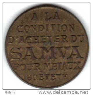 JETON, SAMVA, 25 Cts. (MN 83 ) - Monetari / Di Necessità
