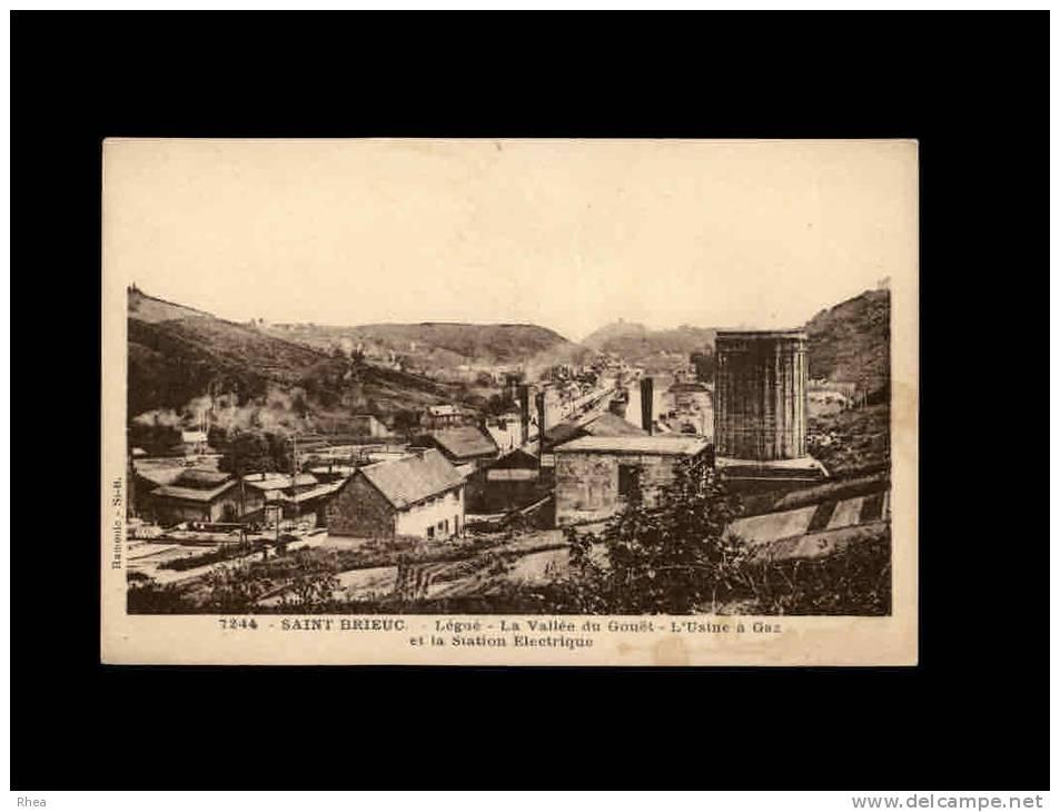 22 - SAINT-BRIEUC - LE LEGUE - La Vallée Du Gouët - L'Usine à Gaz Et La Station Electrique - 7244 - Saint-Brieuc