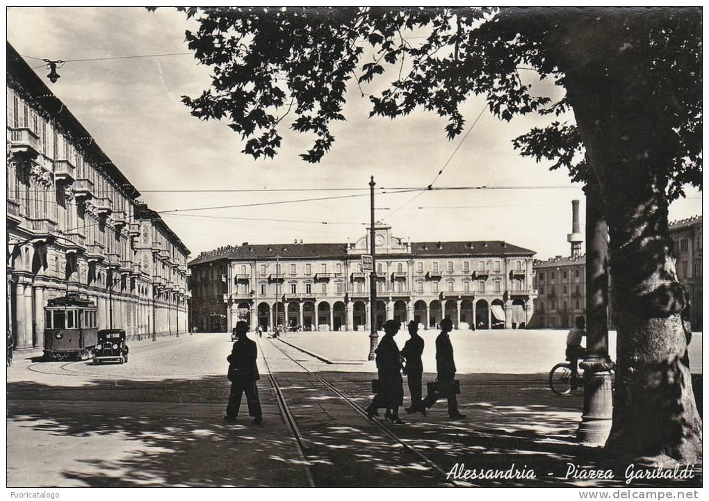 ALESSANDRIA -PIAZZA GARIBALDI-TRAM D'EPOCA  -FG - Alessandria