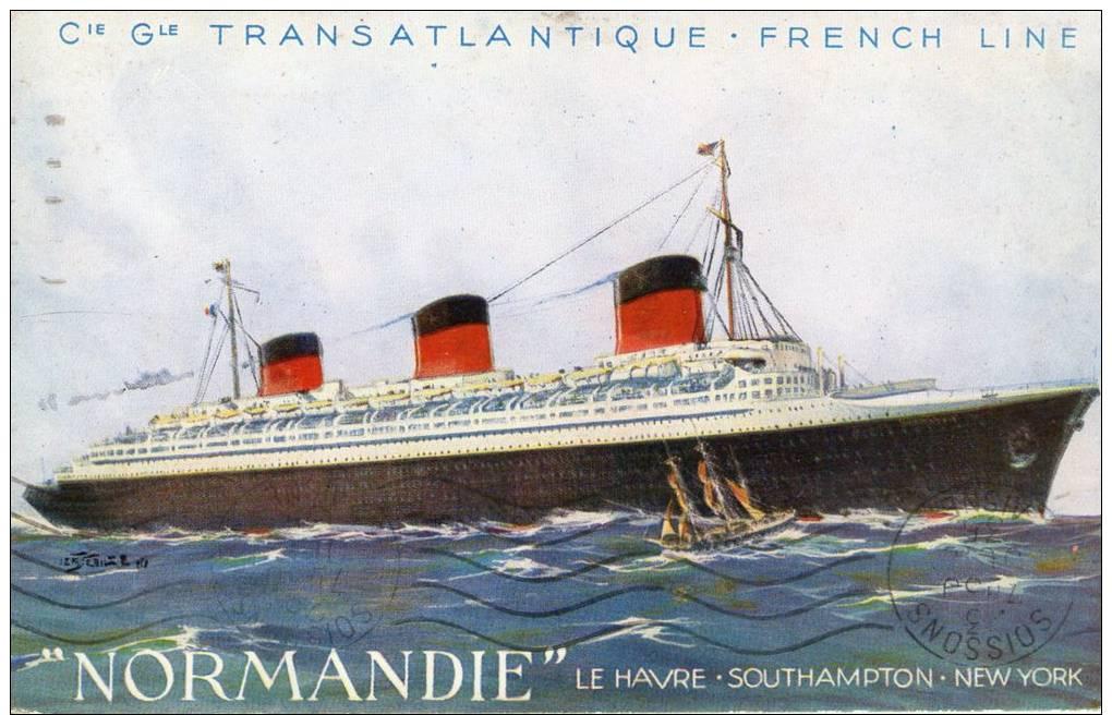 Paquebot, Normandie, French Line - Paquebots