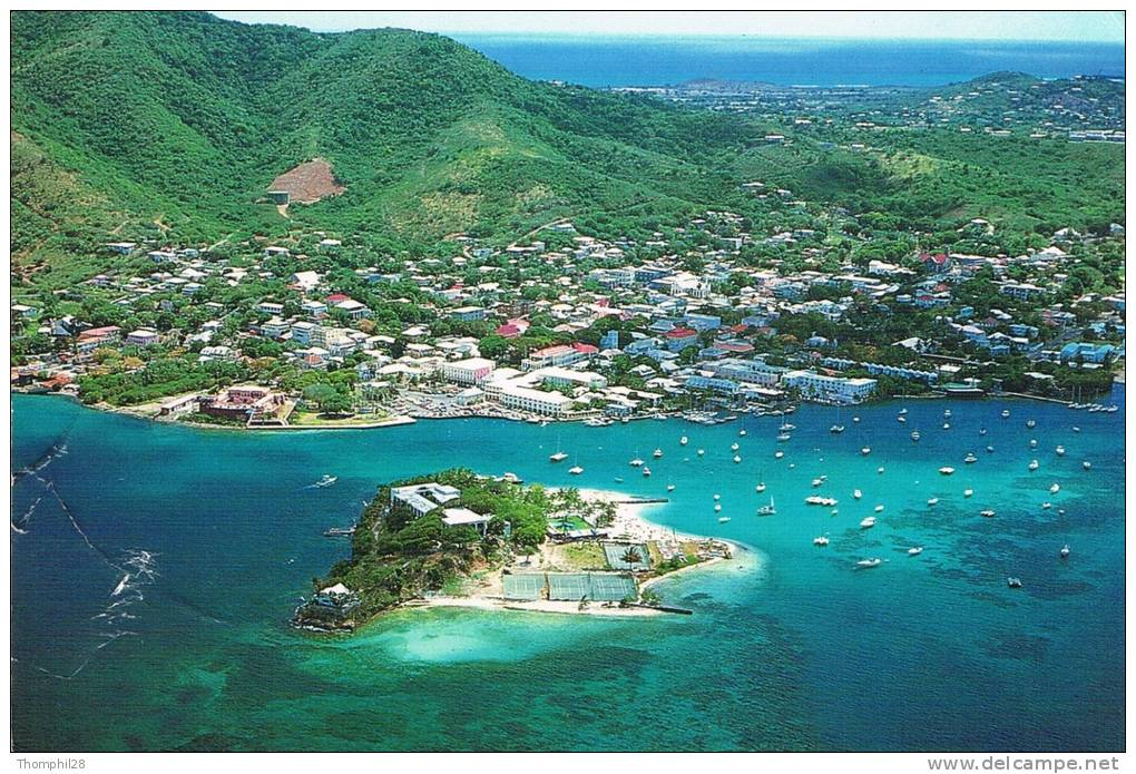 Christiansted, St. Croix, U.S.V.I. - A Spectacular Panoramic Aerial View Of Christiansted Harbor. Protestant Cay - 1992 - Isole Vergini Americane