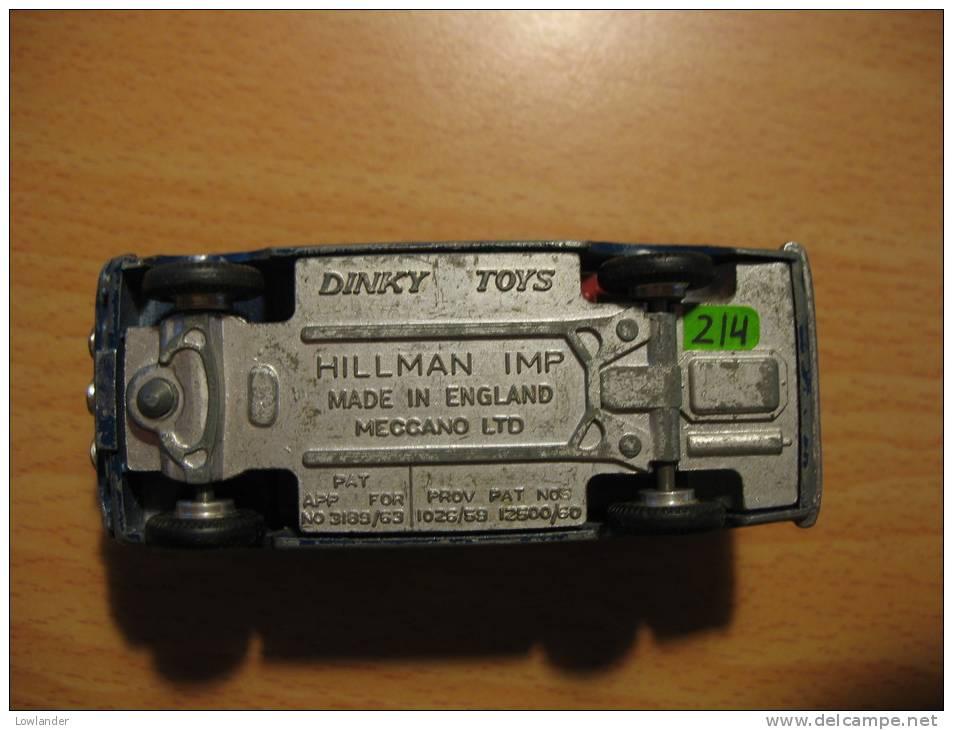DINKY TOYS ENGLAND 214 HILLMAN IMP RALLY - Dinky
