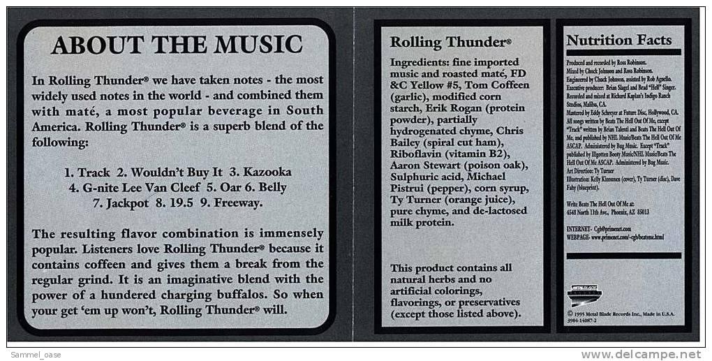 Rock Musik CD Rolling Thunder Music   -  1995 - Rock
