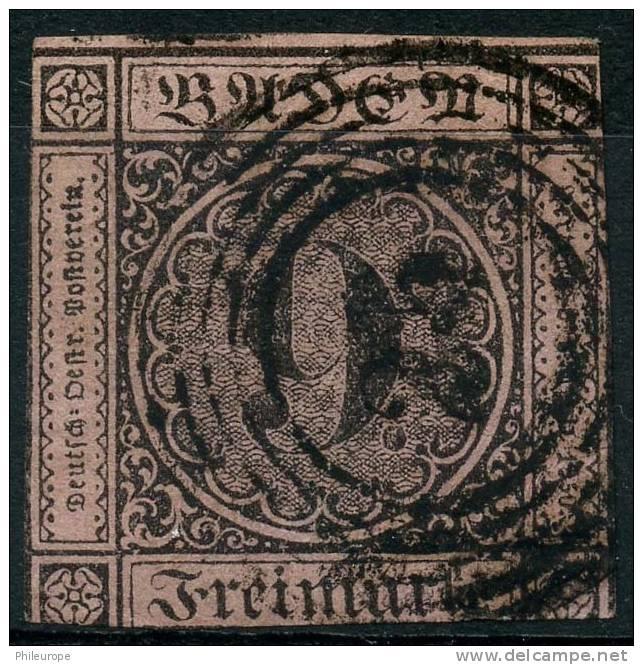 Allemagne Bade (1851) N 4 (o) 2ieme Choix - Baden