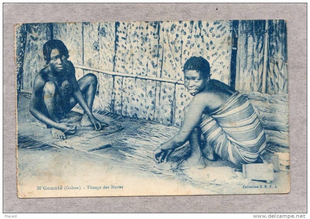 """32876    Gabon( N""""Gounie)   -  Tissage  Des  Nattes,  VGSB  1933 - Gabon"""