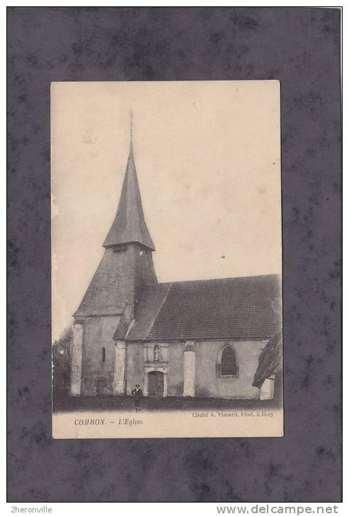 CPA - COMBON - L'Eglise - France