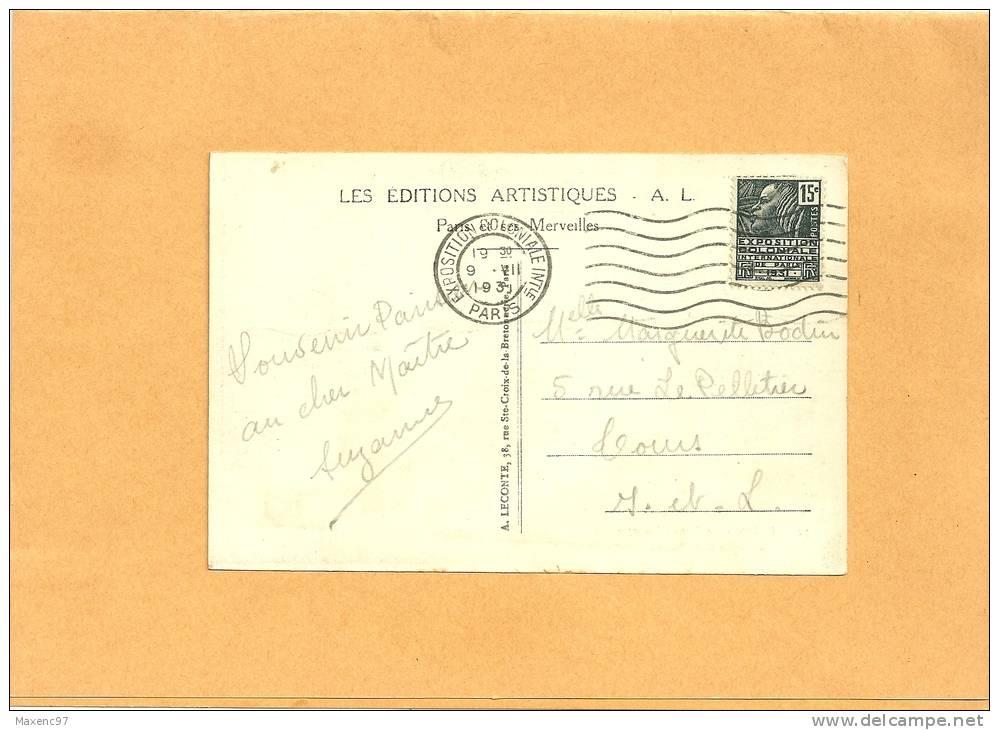 FLAMME ESSAI FLIER PARIS EXPOSITION COLONIALE INTle 1931 AVEC 15 C FACHI - Poststempel (Briefe)