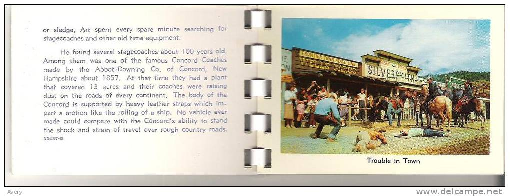 Booklet  The Frontier Town Story     21 Pages   (Between Lake George And Lake Placid New York) - North America