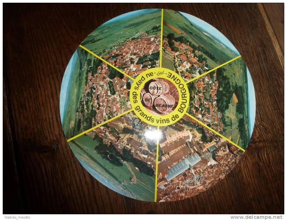 Rare Carte Postale Ronde (circulaire),  Vue De Beaune, Meursault, Pernand-Vergelesse,Pommar D,Aloxe-Corton,Montrachet .. - Meursault