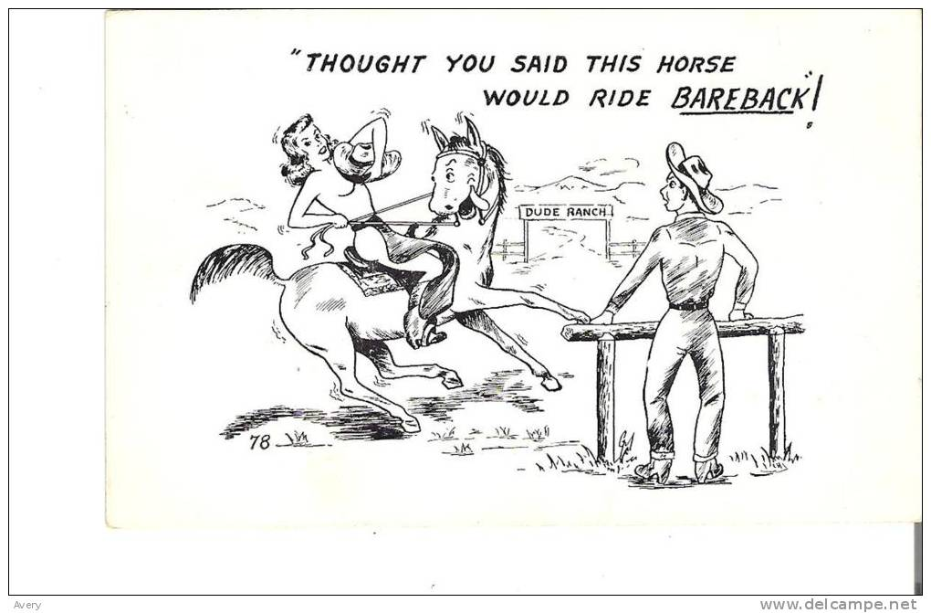 """""""Thought You Said This Horse Would Ride Bareback!"""" - Humour"""